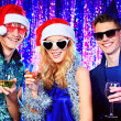 Stock Photo: Xmas with friends
