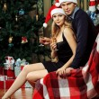 Couple xmas — Stock Photo