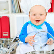 Laughing cook — Stock Photo