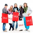 Group of shoppers — Foto de Stock