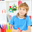 Painting boy - Stock Photo