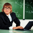 Mathematics teacher — Stock Photo