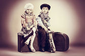 Itinerant musicians — Stock Photo