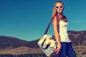 Beyaz çanta — Stok fotoğraf