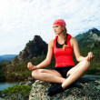 Yoga peace - Stock Photo