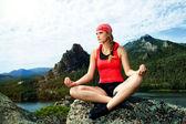 Yoga peace — Stock Photo
