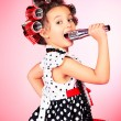 Little singer — Stockfoto