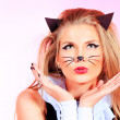 Cat makeup — Stock Photo