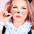 Kitty girl - Stock Photo