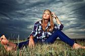 Hippi girl — Stock Photo
