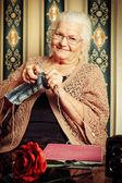 Oma's breien — Stockfoto