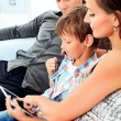 Family touchpad - Foto Stock