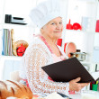 Reading recipe — Stock Photo