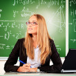 Dreaming teacher - Stock Photo