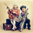 Musical duo - Stock Photo