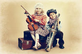Musical duo — Stock Photo