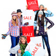 divertimento shopping — Foto Stock