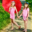 Walking girls — Stock Photo