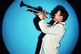 Trumpeter — Foto Stock