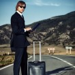 Black suitcase — Stock Photo