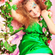 Stock Photo: Green dress