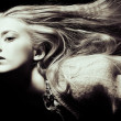 Long blonde hair — Stock fotografie