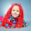 Red braids — Stock Photo