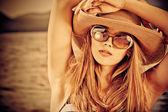 Sepia porträtt — Stockfoto