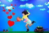 Many hearts — Stock Photo