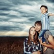 Embracing family — Stock Photo #26102983