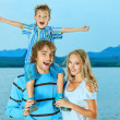 Joyful family — Stockfoto