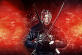 Warrior kendo — Stock Photo