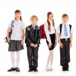 Students in uniform — Stock Photo