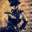 Stock Photo: Vintage steampunk
