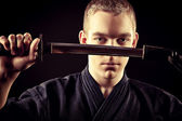Kendo warior — Stock Photo