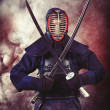 Practicing kendo — Stock Photo