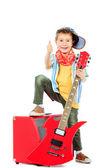 Casual guitarist — Stock Photo