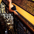 Stock Photo: Belle on stairs