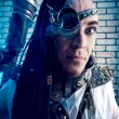 Stock Photo: Steampunk man