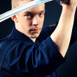 Stock Photo: Boy kendo