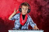 Cool dj boy — Stock Photo