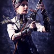 Stock Photo: Lady steampunk