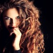 Great curly hair — Stock Photo