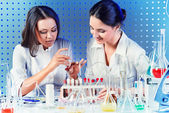 Laboratory assistants — Stock Photo