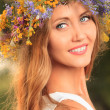 Stock Photo: Circlet of flowers