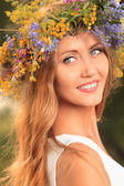 Circlet of flowers — Stock Photo