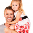 Embracing father — Stock Photo