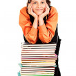 Stock Photo: Muse of books