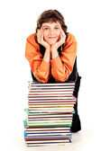 Muse of books — Stock Photo