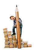 Many books — Stock Photo